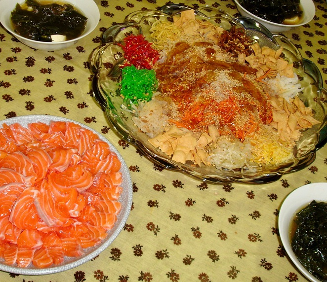 lunar new year raw fish salad