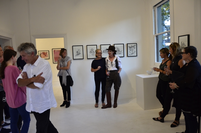 Maree Coote meets and greets as Art Exhibition Launch