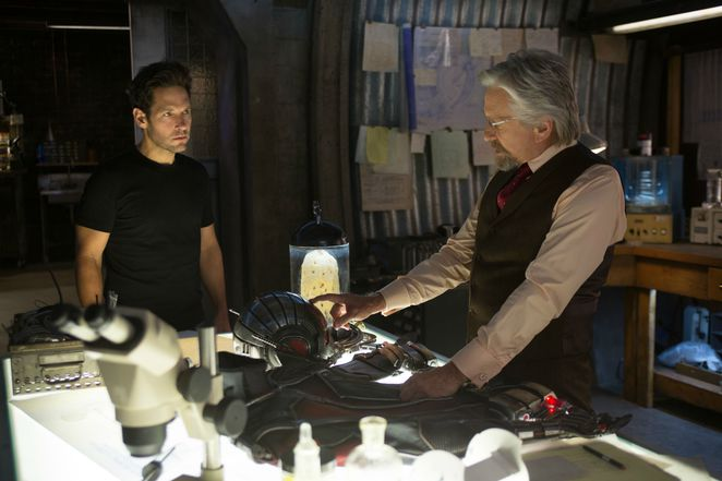 Marvel's Ant-Man - Michael Douglas as Hank Pym and Paul Rudd as Scott Lang