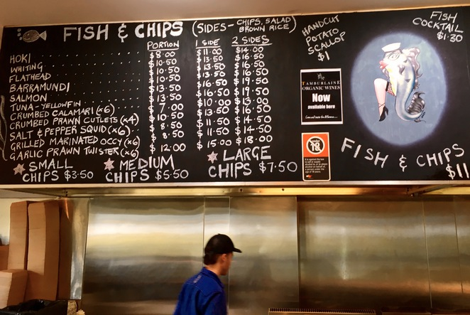 Menu at Big Tuna Fish Co, Fresh seafood, fish & chips, the entrance, central coast, licensed seafood restaurant, takeaway