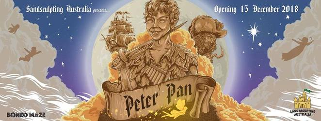 Sand Sculpting Australia: Peter Pan