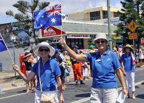 Show off your patriotism during the parade/Image from See Coolum