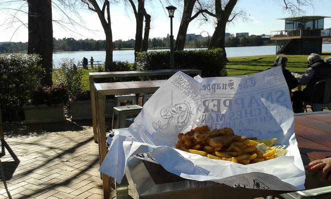 Snapper on the Lake, Fish and Chips, Lake Burley Griffin, Summer activities