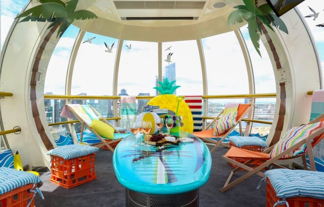 The District Docklands, Melbourne Star, beach box, Docklands, Melbourne, holiday fun