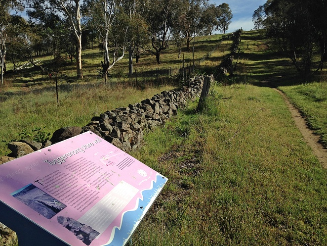 tuggeranong boundary wall, murrumbidgee river, murrumbidgee river discovery track, kambah pool to pine island, ACT, early settler history, local history, canberra, tuggeranong,