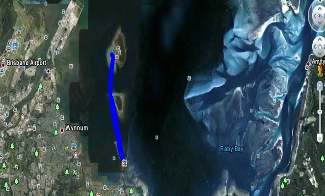 Tracking the kayaking route from Wellington Point to St Helena Island