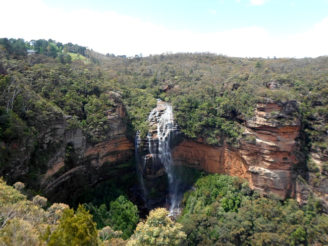 wentworth falls, princes rock lookout, wentworth falls lookouts, blue mountains lookouts
