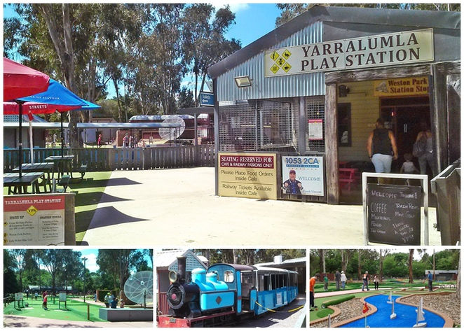 yarralumla play station, canberra, ACT, weston park, parks, mini golf, mini train rides, toddlers, playgrounds, BBQ areas, walks, bike rides,