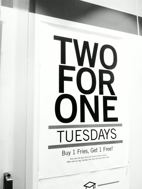 2 for 1 deal - Lord of the Fries