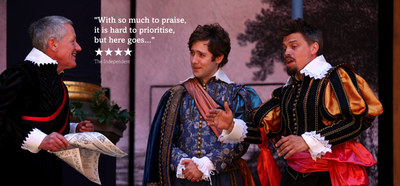 A scene from All's Well That Ends Well; supplied by Shakespeare's Globe