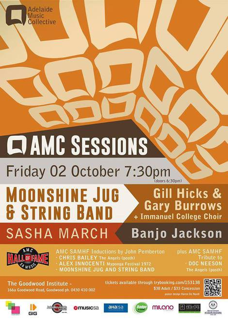 AMC SAMHF Sessions induction of Moonshine Jug & String Band and Alex Innocenti