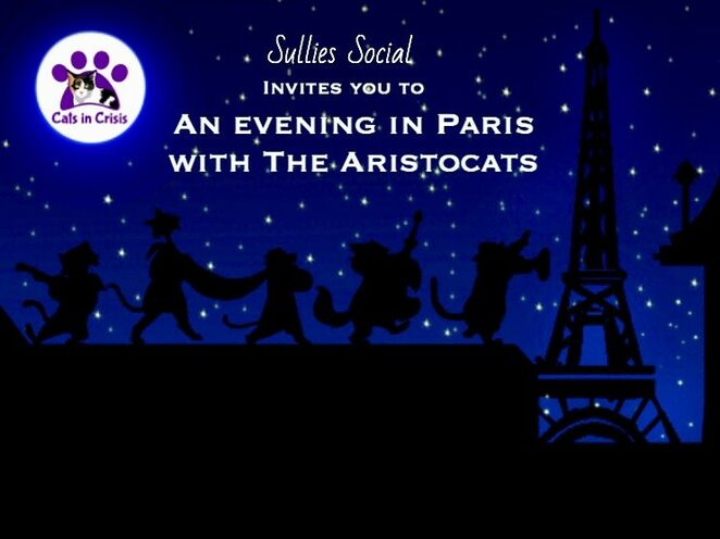 an evening in paris with the aristocats 2019, community event, fun things to do, sullies social, sa panthers fc, live music, film screening, aristocats for the kids, licensed bar, dessert table, family friendly event, fundraiser, charity, cats in crisis, cat rescue