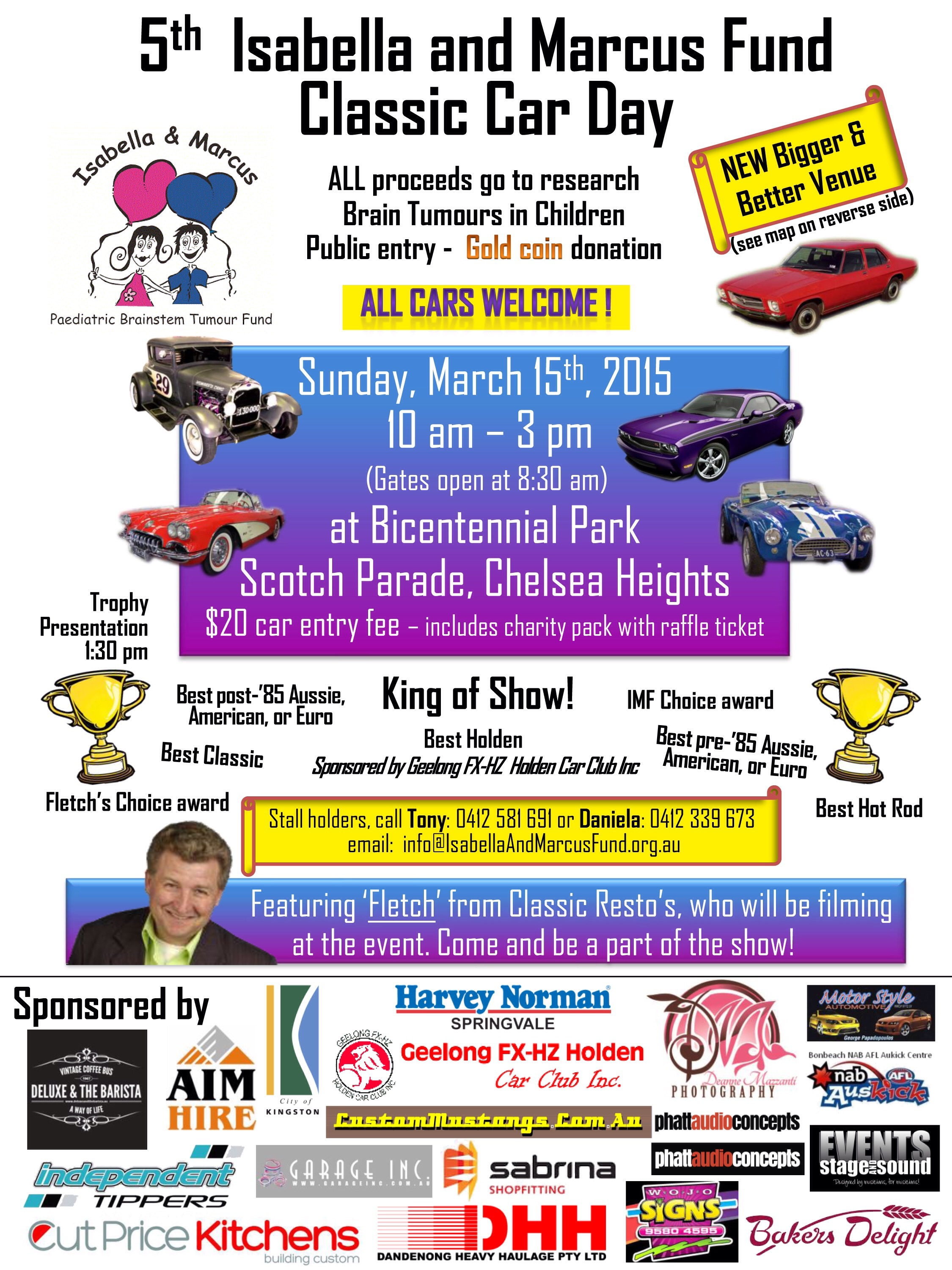 5th Annual Isabella & Marcus Fund Classic Car Day - Melbourne