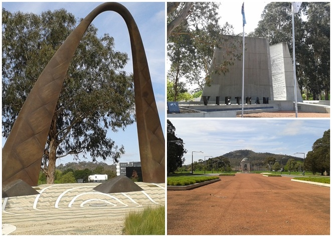 anzac parade memorial walk, canberra, ACT, campbell, walking tours, tourist attractions, ACT, suburbs,