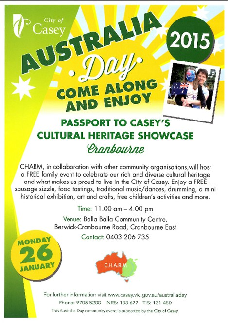 Australia Day, Zcity of Casey, CHARM