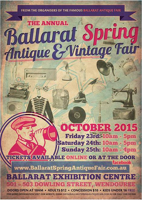 ballarat spring antique & vintage fair, ballarat exhibition centre, catering, market, stalls, stall holders, dealers, antique fairs
