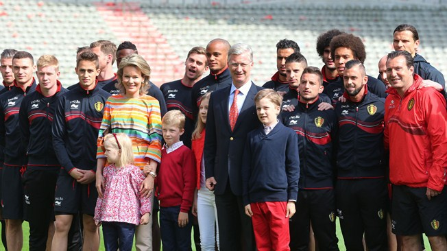 belgium football team with royal family