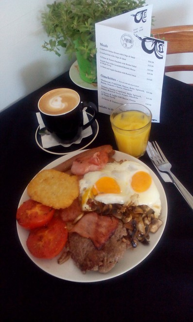 Breakfast, Poetic Justice Cafe, Gawler