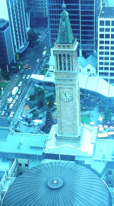 clock tower, city hall, Brisbane, King George square, copper dome