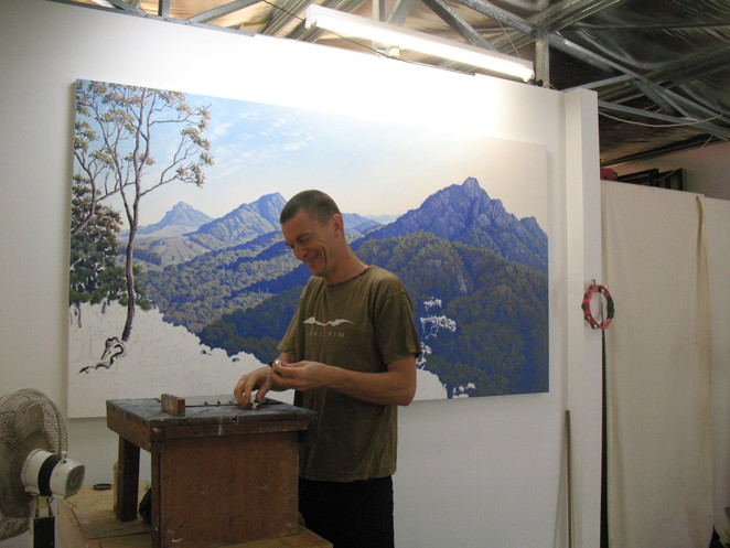 David Groom in his studio