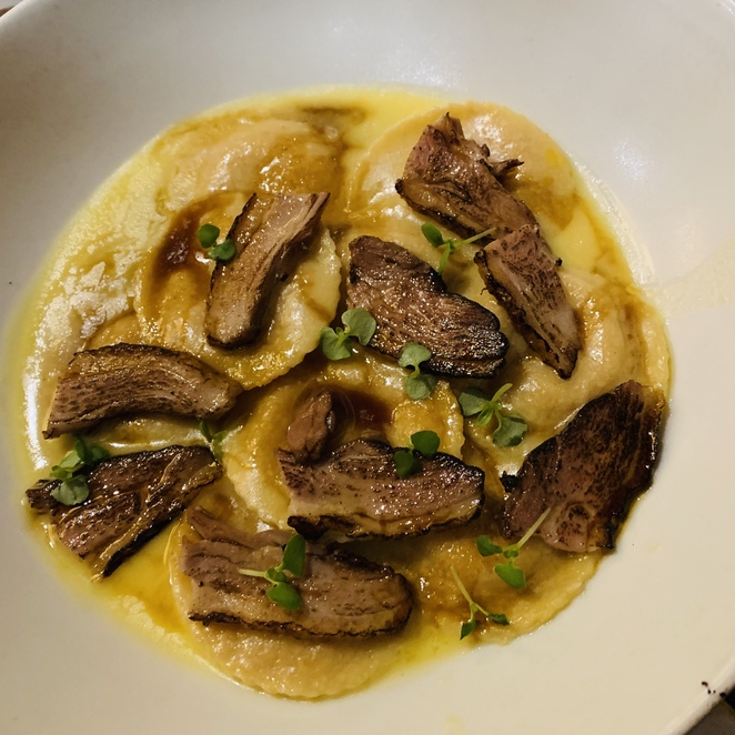 Duck and Carrot Ravioli