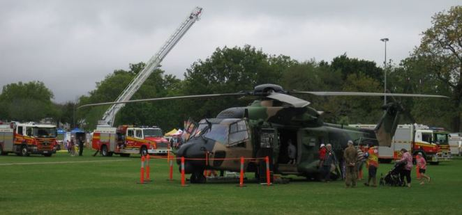 Emergency Services Day Toowoomba Combat Aviator army helicopter