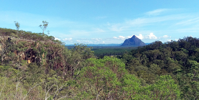 View from the Yul Yan Man Track in the Glass House Mountains
