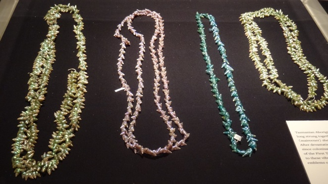 Tasmanian Aboriginal shell necklaces