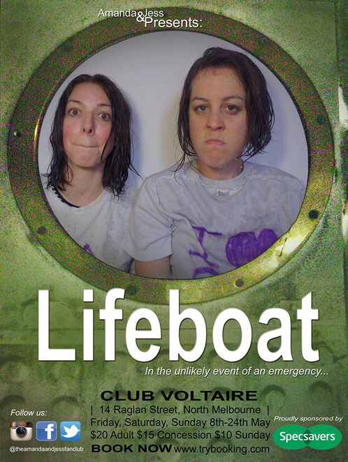 lifeboat, comedy, theatre, amanda goode, jessica kate, luke hutton, club voltaire,