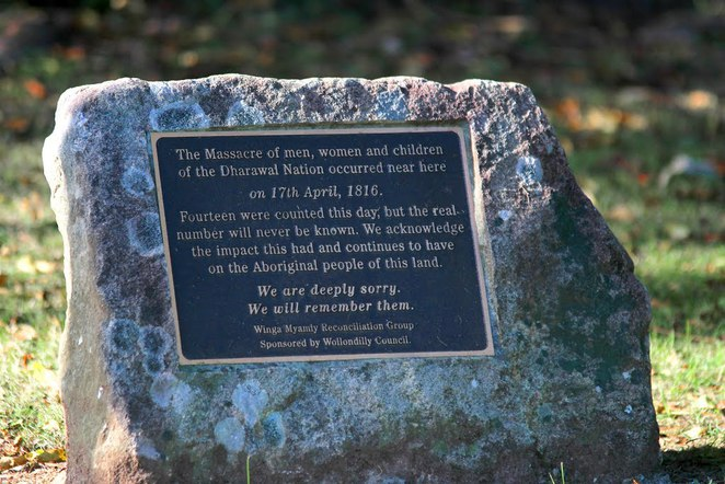 Appin Massacre Memorial plaque