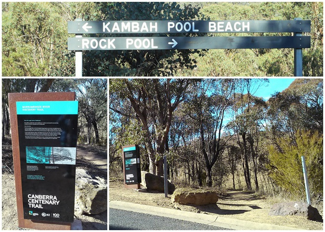 murrumbidgee discovery trail, canberra, bushwalks, red rock gorge, short walks, ACT, kambah pools beach, swimming hole