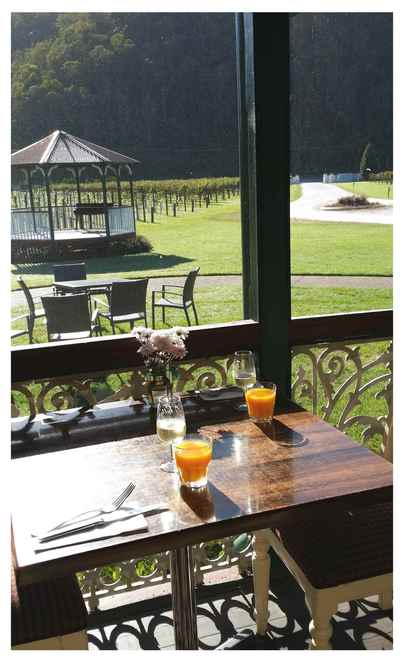 O'Reilly's Canungra Valley Vineyards, breakfast, Gold Coast Hinterland, Canungra, champagne breakfast