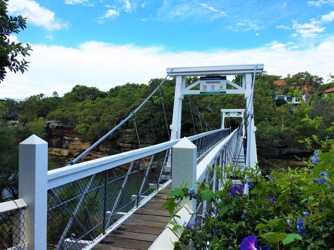 Parsley Bay Suspension Bridge
