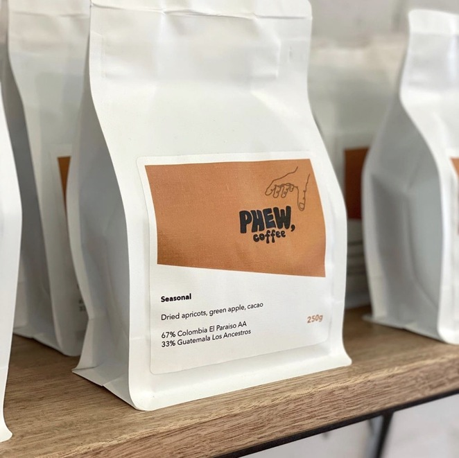 Phew coffee, beans, coffee beans, brew, cafe, barista