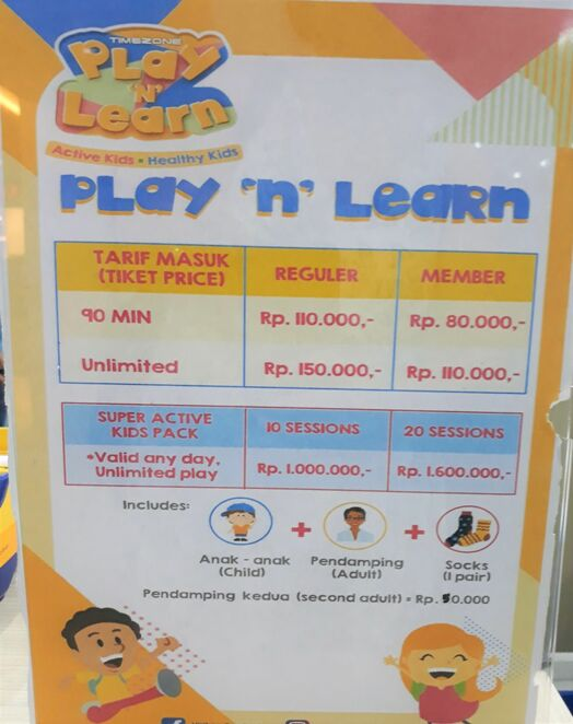 play n learn bali prices
