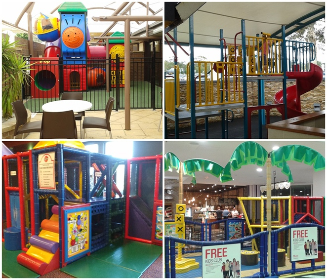 playgrounds in clubs, jamison club, southern cross club, westfield woden shopping centre, cafe cherry beans,