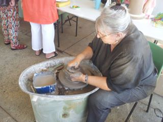 Pottery wheel Artists at work Macleay Island