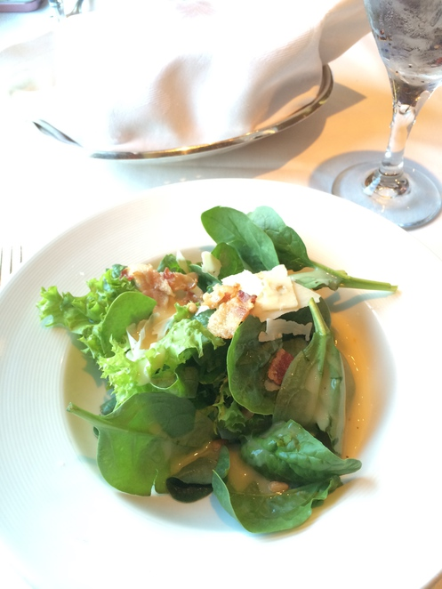 sun princess, princes cruises, regency dining room, salad, italian dinner