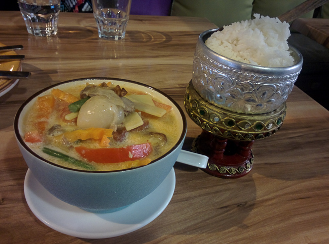 Thai red curry from Thai At Home in St Lucia