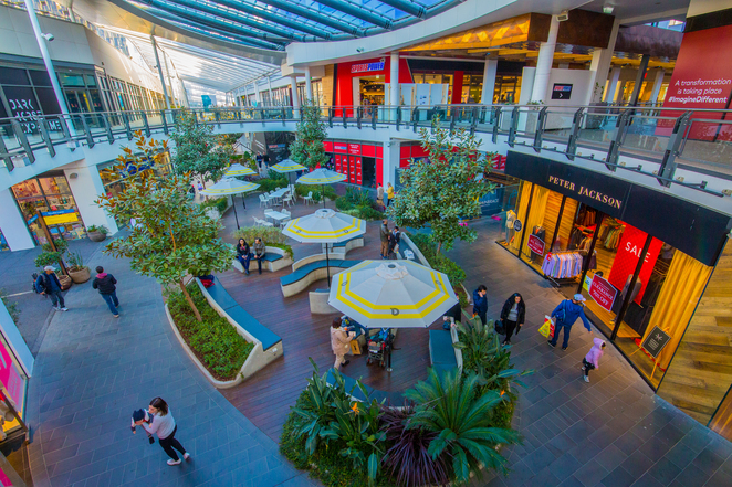 The District Docklands Shopping precinct