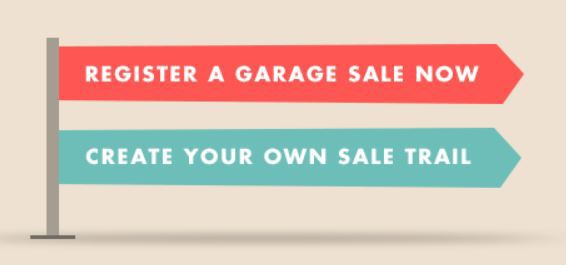 The garage sale trail, treasure hunt, bargain hunters,