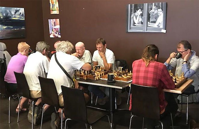 The Perfect Sunday with Crobs' Coffee & Chess. One of life's small pleasures, good company, good coffee and great chess.