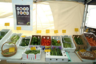 The weekly organic food market held at Chatswood Public School
