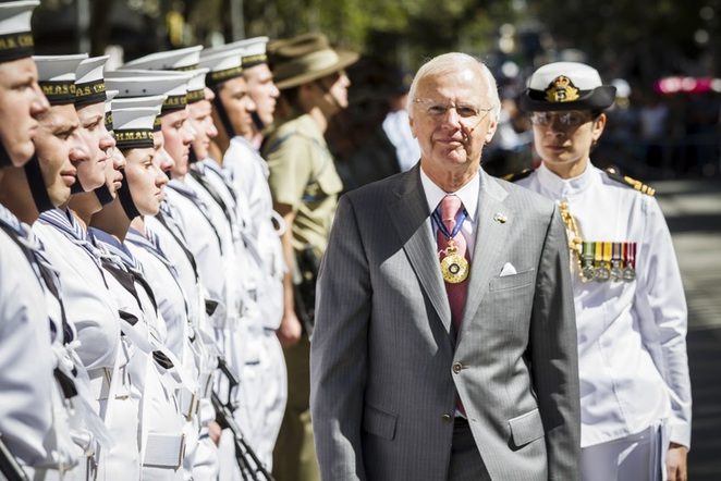 Governor at Australia Day Flag Raising Melbourne