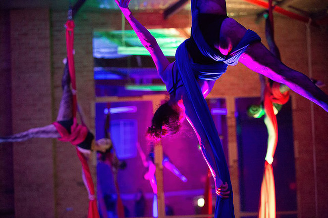 Aerial silks at Wild Spirit Productions