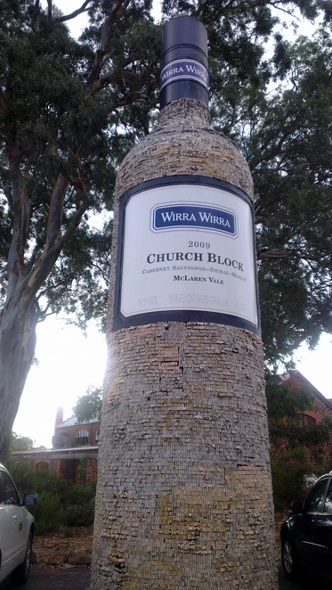 big church block bottle, mclaren vale, south australia, big things
