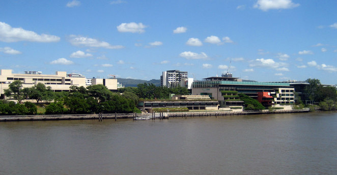 The cultural precinct at South Bank is a great place to escape the rain and the summer heat