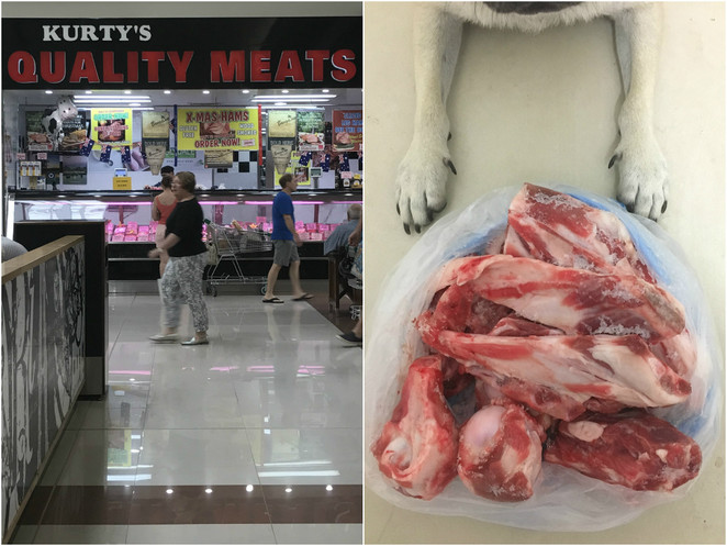 dog bones, dog treats, butcher, stafford city, kurty's quality meats, raw bones