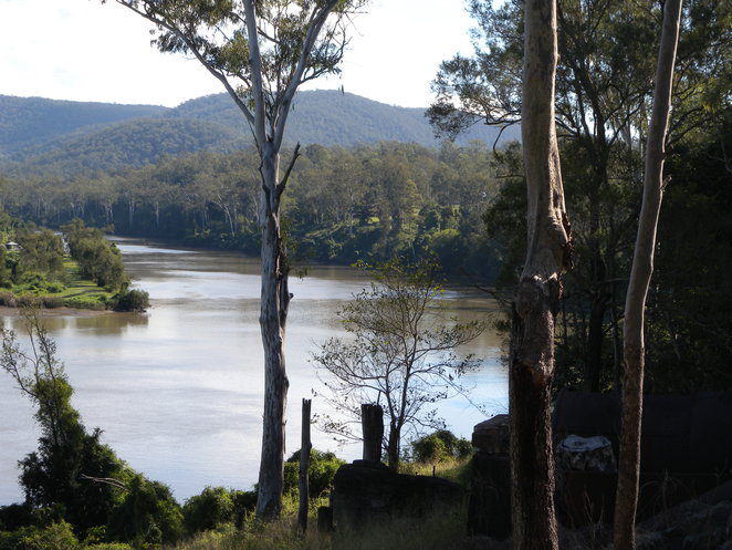 View of the Brisbane River from Sugars Quarry