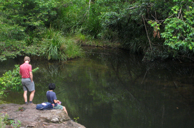 Flat Rock has a lovely swimming hole that few people visit